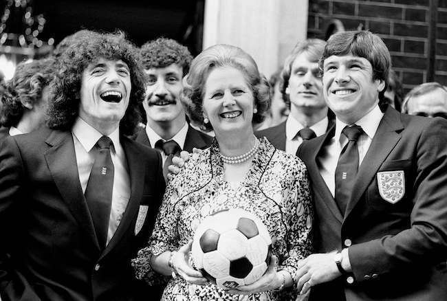 Politics - Margaret Thatcher and England footballers - 1980