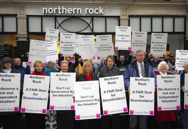 Northern Rock protest