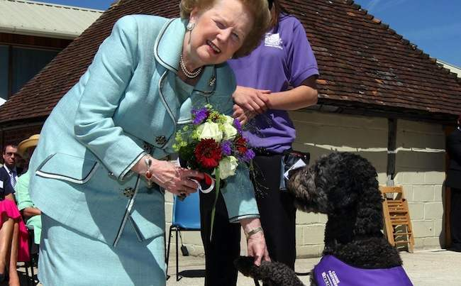 Thatcher opens dog charity building