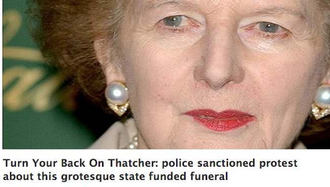 Turn Your Back On Thatcher Turn Your Back On Thatcher: the funeral protest that might be a Poznan