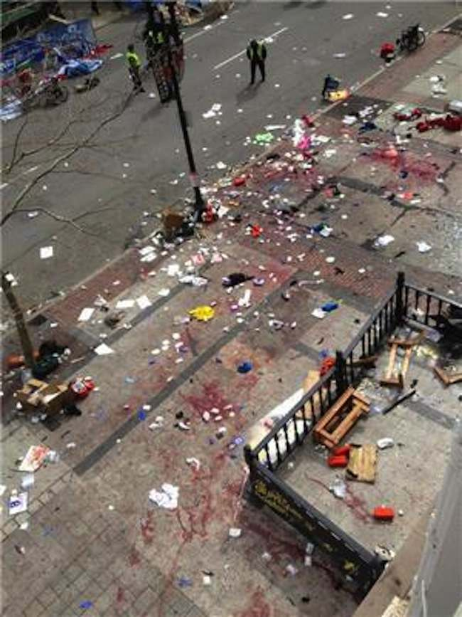 boston marathon Bombs kill three and maim many more at Boston Marathon (photos)