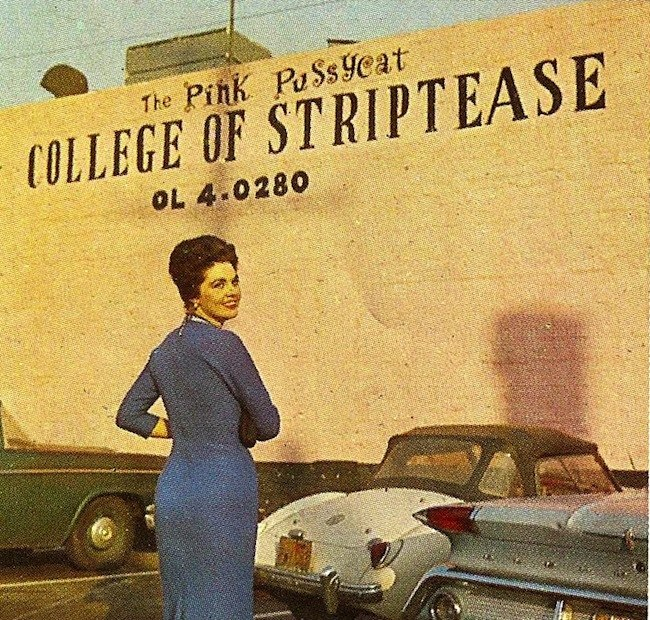 college of striptease The Pink Pussycat College of Striptease remembered