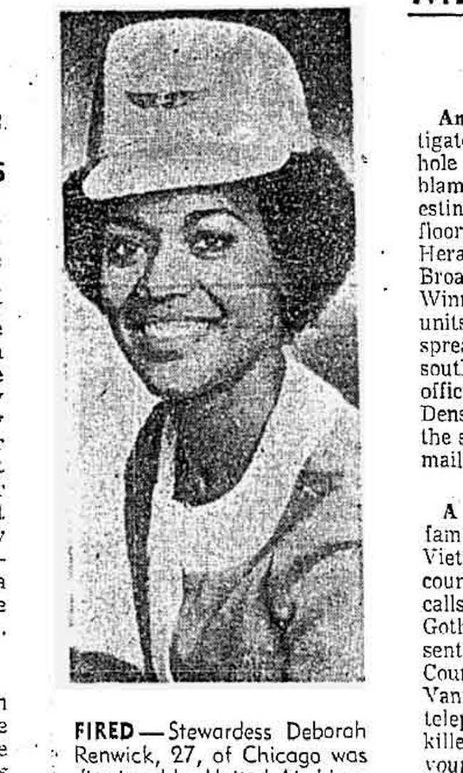 hair airline1 United Airline v Deborah Renwick: Making black women conform or else in 1969