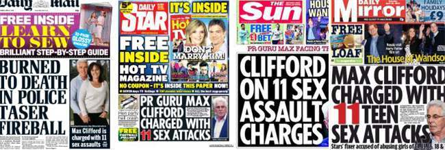 max clifford arrested Max Clifford charged with sexual assault: tabloids weigh in on PR fixers nightmare
