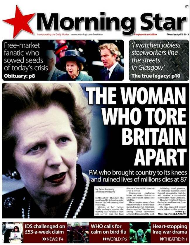 morning star thatcher dead