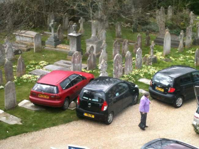 parking graves Who parked on the graves by St Catherine's Church in Church Street, Ventnor, Isle of Wight?