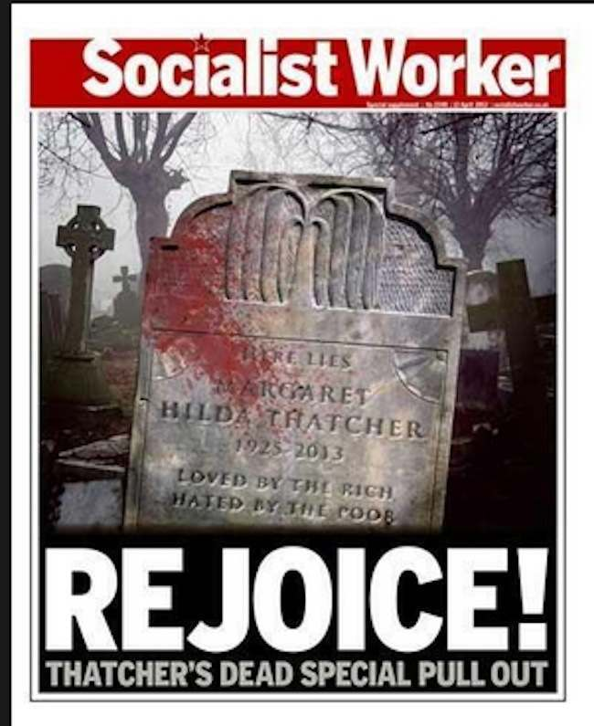 sociliast worker thatcher Glasgow leads parties to mark Thatchers death