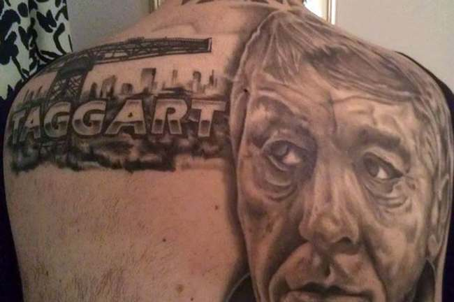 taggart tattoo Man has full back tattoo... of Taggart