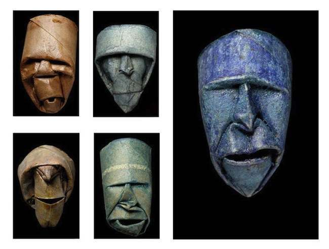 toilet paper faces 5 Turning toilet rolls into sculptures