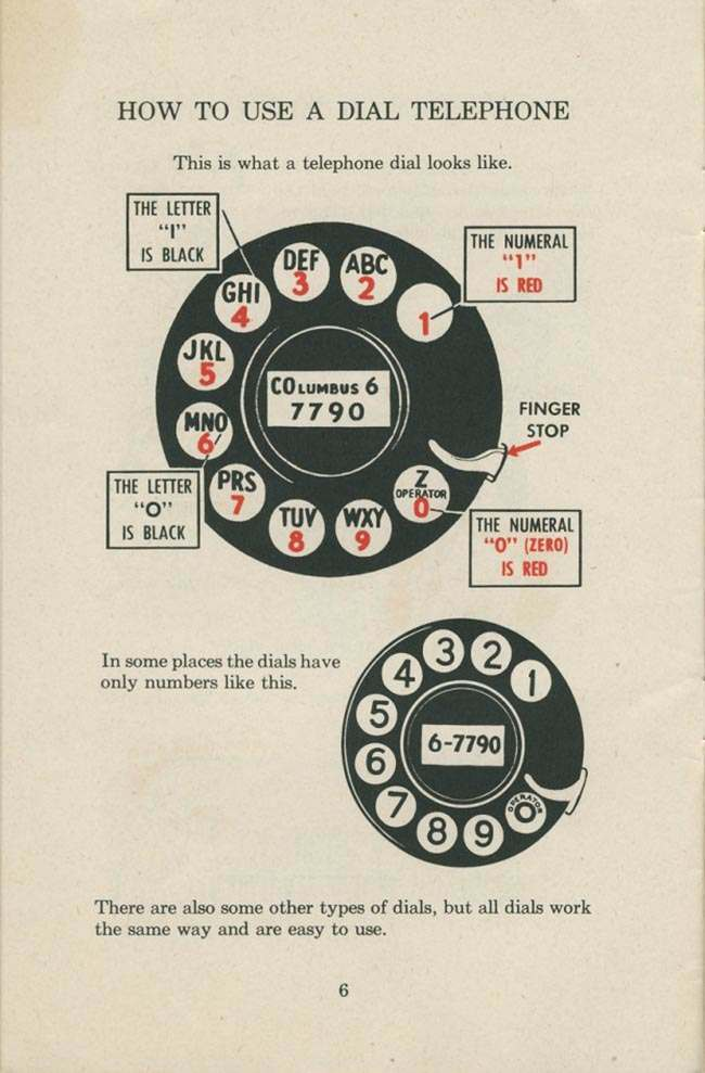 1951 telephone 1951 manual: How To Use a Dial Telephone