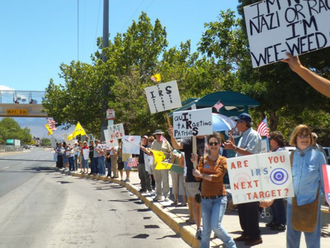 Albuquerque irs In photos: The anti IRS Tea Party protests