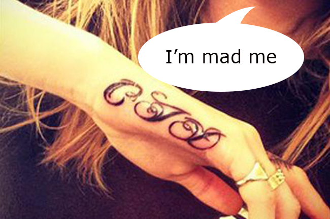 CJD copy Mad cow Cara Jocelyn Delevingne gets a CJD tattoo