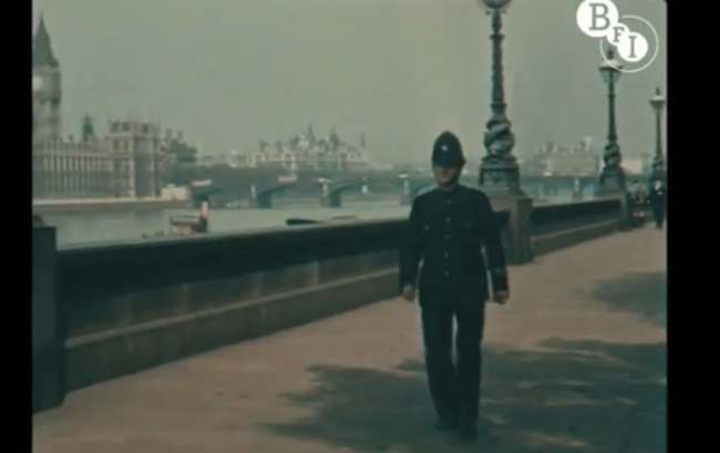 Claude Friese Greene 8 Colour film of London in 1927   rare video and photos