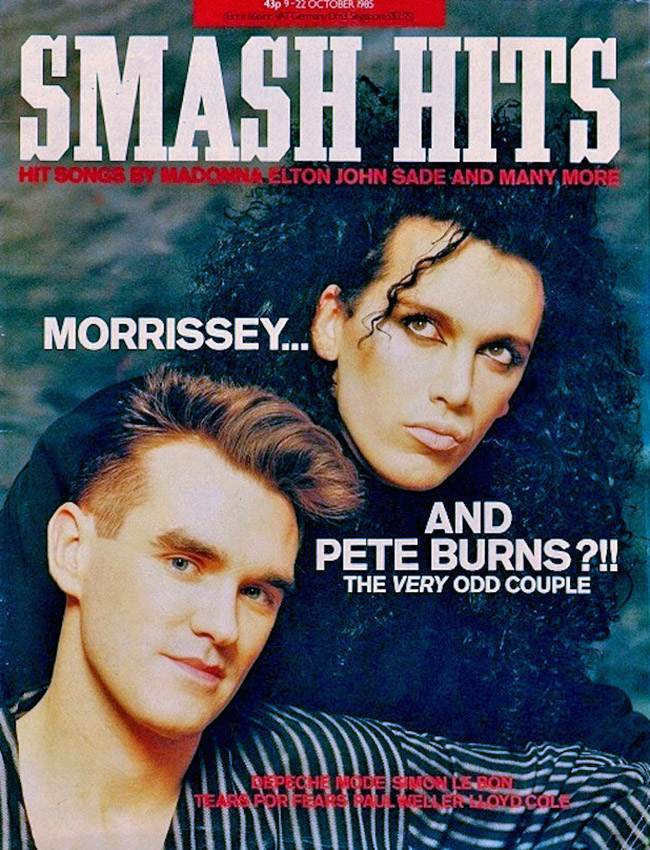 Morrissey and pete burns  October 1985: Morrissey and Pete Burns were The Very Odd Couple