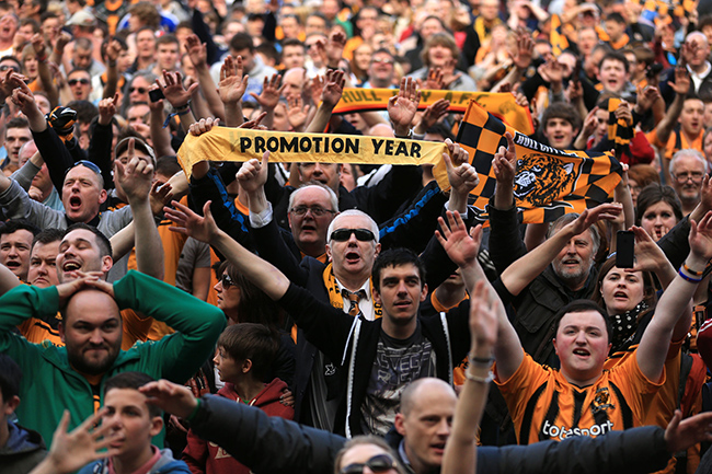 PA 16436821 The Championship finale in photos: Hull gain, Barnsley survive, Wolves sink and Leicesters last gasp glory