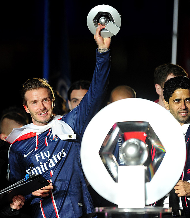 PA 16555255 1 In photos: David Beckham celebrates last match with an ashtray