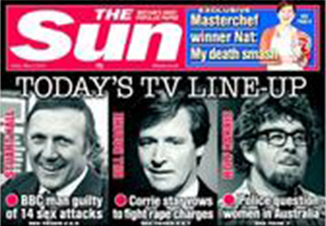 The Sun Stuart Hall: the newspapers and the victims speak out on the BBCs pet pervert