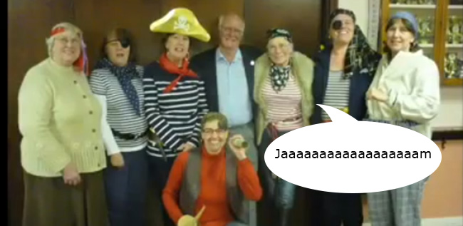 WI pirates copy North Devon WI dress up as pirates to meet former hostage