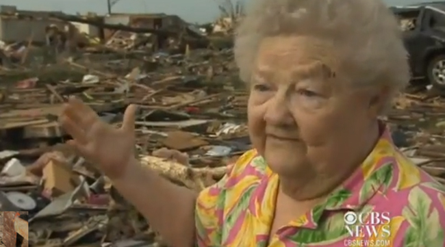 barbara garcia dog copy Oklahoma tornado video: Barbara Garcia finds her dog in the debris