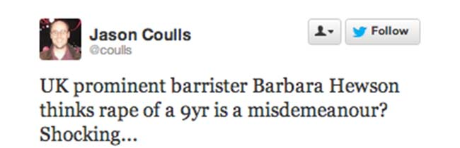 barbara hewson savile 12 All the mad and dangerous views on Barrister Barbara Hewsons words on Operation Yewtree and child abuse