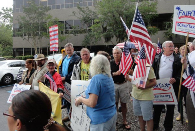 charleston irs 1 In photos: The anti IRS Tea Party protests