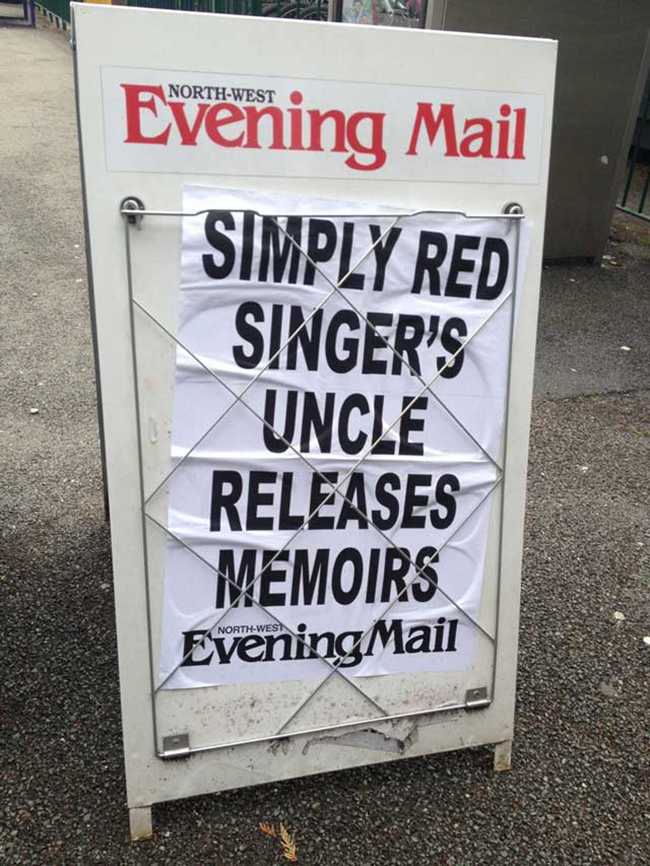 cumbria news Cumbria news special: Simply Red Singers uncle releases memoirs