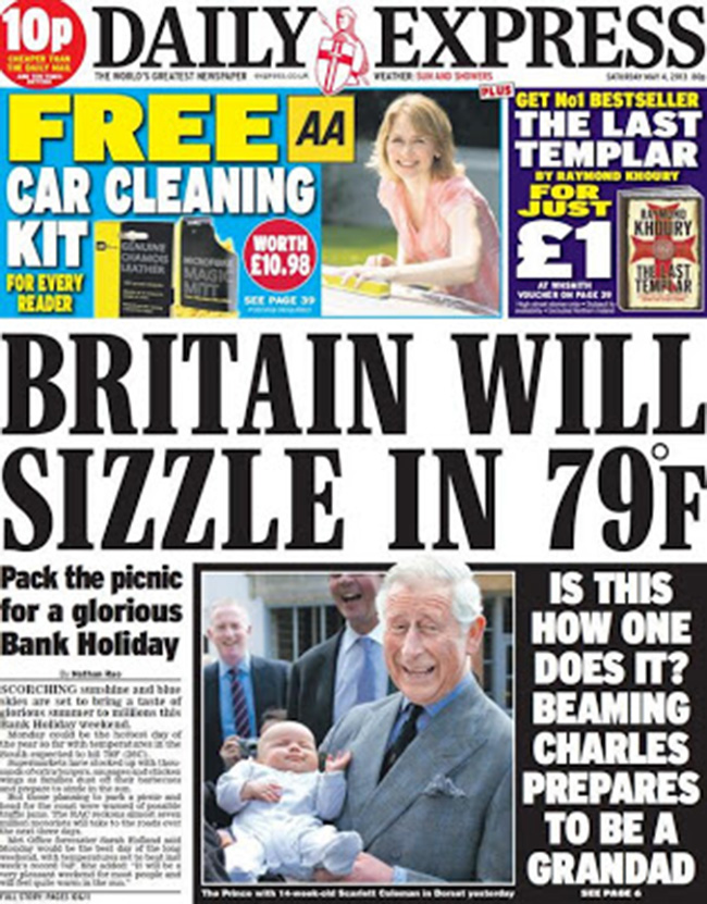 daily express weather How Britain sizzled and froze on the same day in the Daily Express