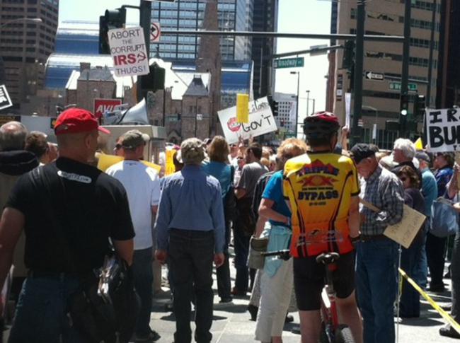 denver irs 1 In photos: The anti IRS Tea Party protests