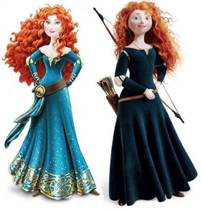disney merida princess Disney give Braves Merida the make over   lets pull her to pieces