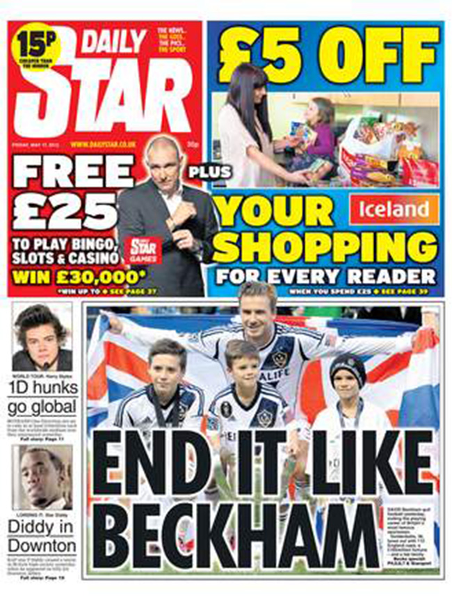end it like beckham 1 David Beckham Retires: Sun salutes the English legend with bottle of German beer