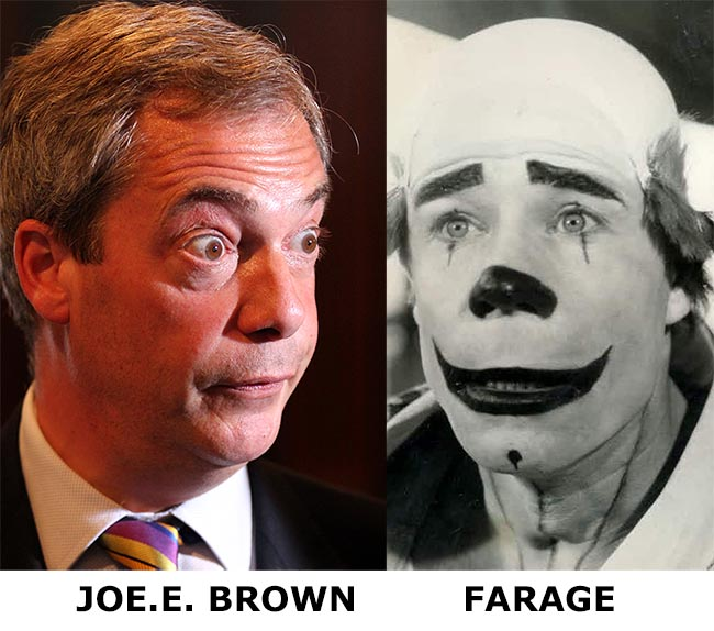 farage joe e brown UKIP leader Nigel Farage looks like Joe E. Brown
