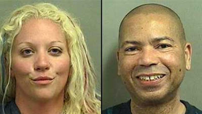 hot sex1 Mug Shot smiles: couple caught having sex on beach grin for the police cameras