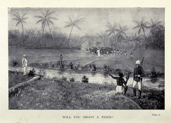 how i killed a tiger How I Killed The Tiger   Being An Account of My Encounter With A Royal Bengal Tiger: pictures from a 1902 hunt