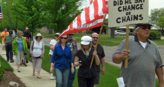 lansing irs 1 In photos: The anti IRS Tea Party protests