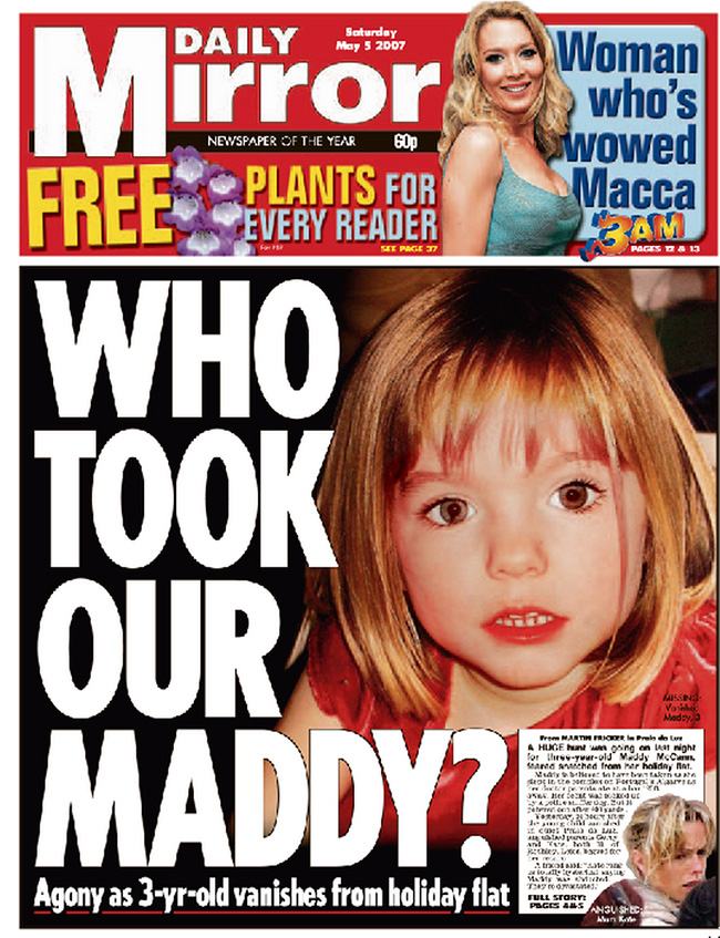 maddy Madeleine McCann: six years of staring