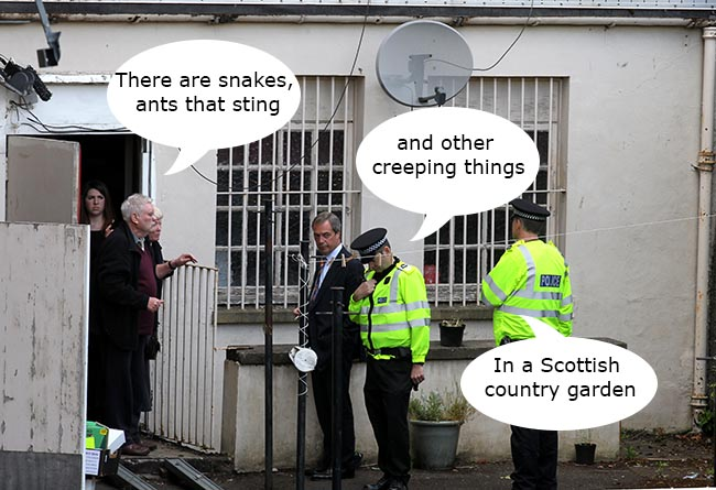 nigel farage scotland  Scottish Nationalists attack Nigel Farage for being too much like them