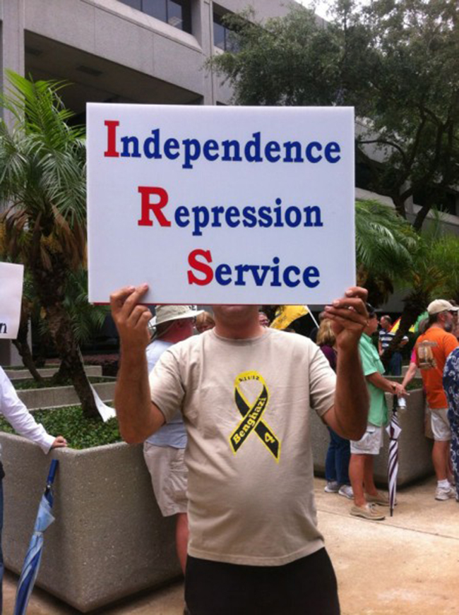 orlando irs In photos: The anti IRS Tea Party protests