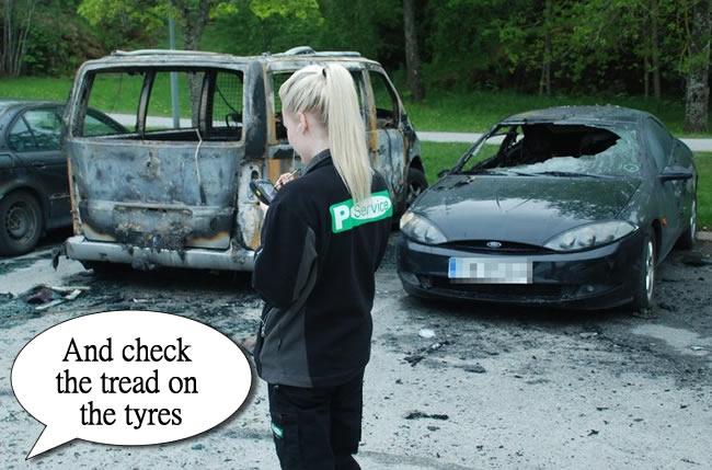 parking ticket sweden riot