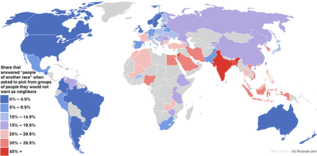 racism world map