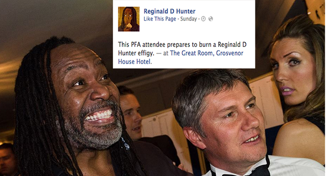 reginald d hunter pfa 10