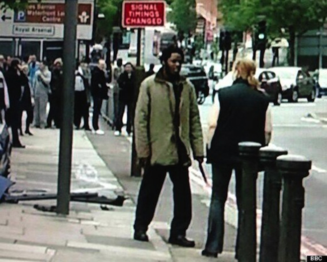 Happy slapping terrorism in Woolwich   bloody lunatics murder man in cold blood for kicks