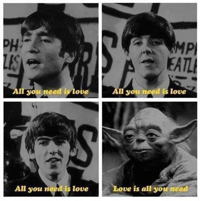 the beatlers yoda When the Beatles met Yoda Love was all you needed