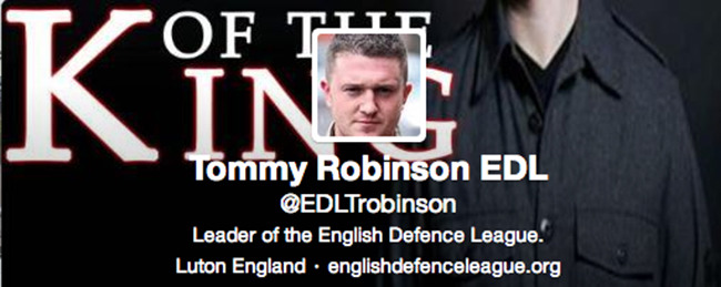 twitter lee rigby Is EDL leader Tommy Robinson a victim of A Twitter Hunt? Tweeters want Lee Rigby defender raped and his mother beheaded