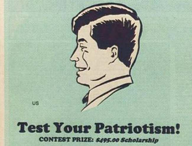 us Test Your Patriotism: how artists tested their value to the US in 1963 