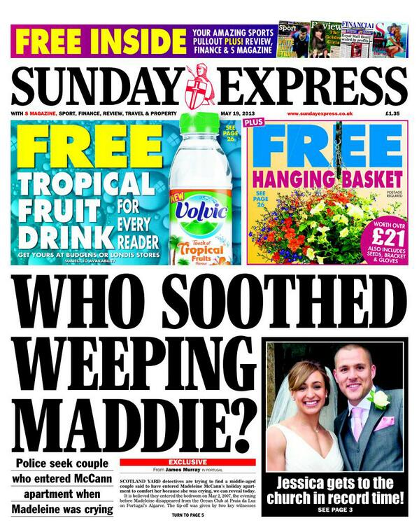 weeping maddie Madeleine McCann: the couple who heard a child crying at night and went to help