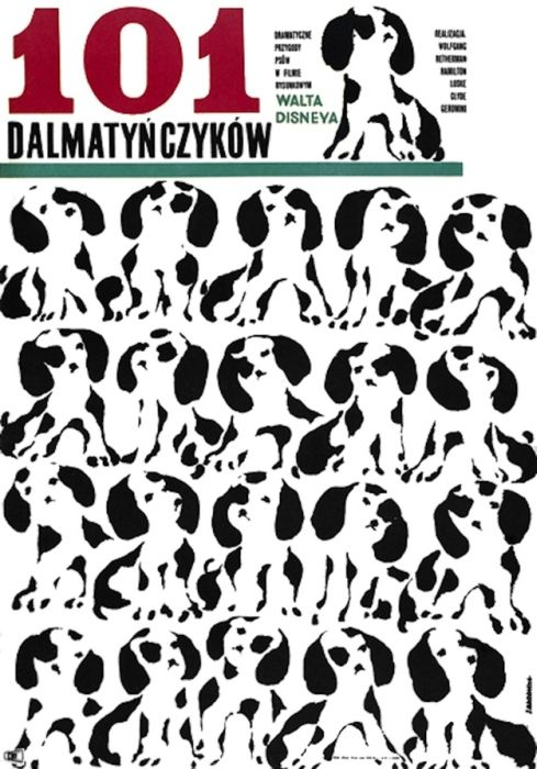 101 Dalmatians  Beautiful Polish film posters for banned American films