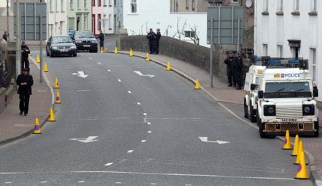 Security in Enniskillen as the G8 Summit continues.