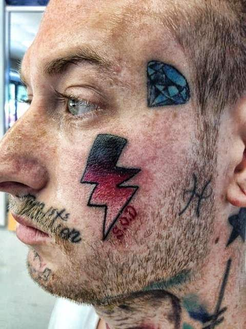 50 Face tattoos   the big collection of regretful ink