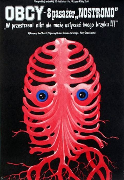 Alien Beautiful Polish film posters for banned American films