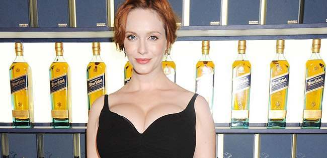 ChristinaHendrick booze How to pull Christina Hendricks: drink lots of Scotch